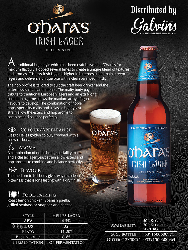 oharas Irish Lager